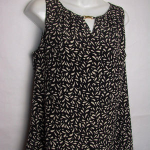 Dana Buchman size medium sleeveless top blouse